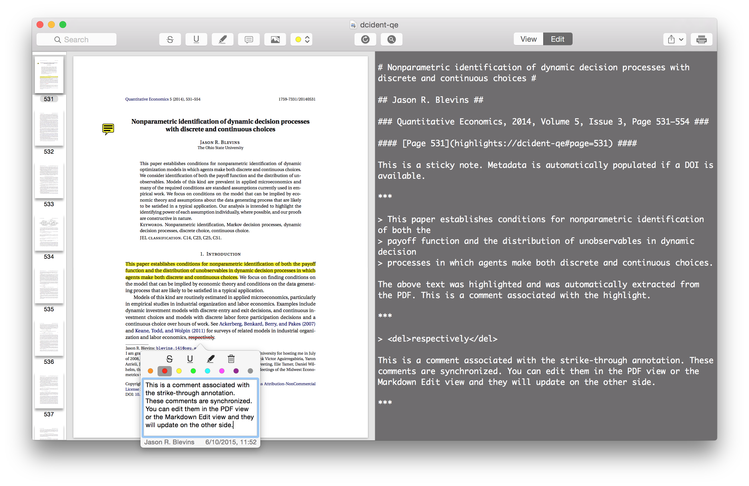 Highlights: A New App for Annotating PDFs, with Two-Way Markdown Sync