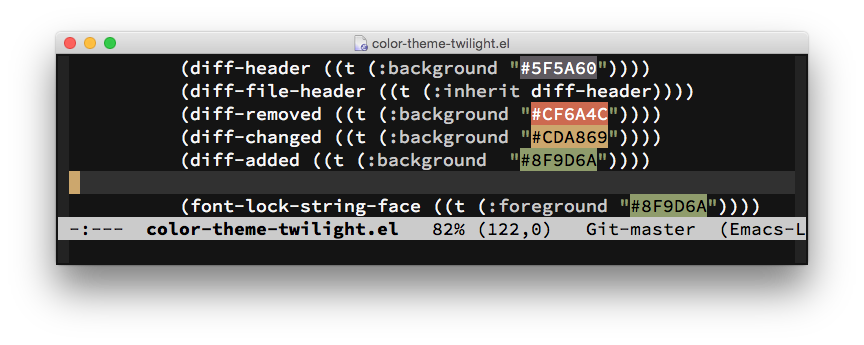 Visualizing Color Codes with rainbow-mode for Emacs
